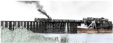 Coal trestle at Sodus Point