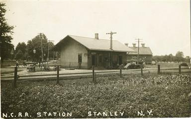 Postcard view of station