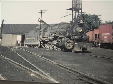 Pennsylvania I1 2-10-2 at Sodus Point, 1956