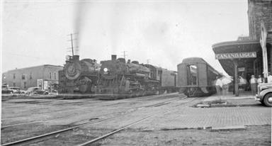 PRR and NYC passenger trains call at Canandaigua